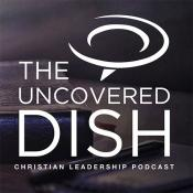 Logo of The Uncovered Dish Christian Leadership Podcast. Courtesy Greater New Jersey Annual Conference of The United Methodist Church.