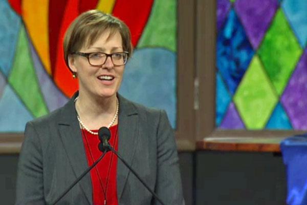 The Rev. Anne Detjen, pastor of Immanuelkirche United Methodist Church in Eberswalde, Germany.