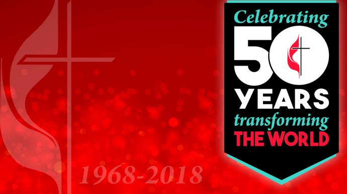 Artwork for the 50th Anniversary of The United Methodist Church. Design and production by Troy Dossett, United Methodist Communications