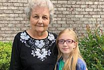 Delores Howell calls nine-year-old Haliegh her angel after suffering a fall. Haliegh comforted Delores, cleaned her