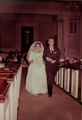When they were married in Capitol Heights United Methodist Church in Montgomery Alabama, Bill and Laura Roy also committed their lives to serving the church. (l-r: Laura Roy, Bill Roy)