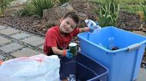 "Sean Santellan, a member of Napa Methodist Church in Napa, California, turned ""trash to toilets"" when the 6-year-old joined in his church's capital campaign for renovations by collecting recyclables. Photo courtesy of Napa Methodist Church"