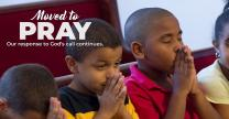 Moved to Pray is one of the images provided for the Movement Continues campaign in The United Methodist Church. Courtesy of United Methodist Communications.