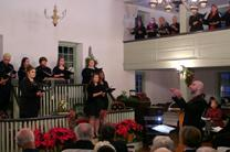 Choirs perform Christmas hymns at Barratt's Chapel's annual Christmas Carols concert in 2016.Image from video by Kisker Productions for United Methodist Communications.