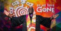 Bishop Warner H. Brown Jr. preaches during opening worship of the 2016 United Methodist General Conference. Photo by Mike DuBose, United Methodist Communications.
