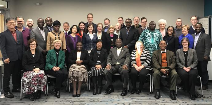 Members of the Commission on a Way Forward are pictured during their first meeting held in January, 2017.