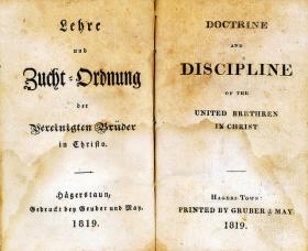 Discipline of the United Brethren in Christ was published in both German and English.