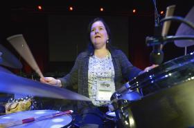 Drummer at General Conference 2016.