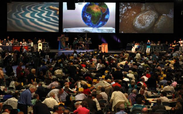 Delegates participate at the closing worship service at the 2012 United Methodist General Conference. Photo by Kathleen Barry, United Methodist Communications.