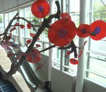 Modern artwork brightens the hallways of the Oregon Convention Center in Portland, the site of General Conference 2016. Photo courtesy of United Methodist Communications.