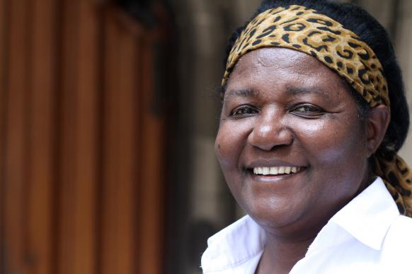 Bishop Joaquina Filipe Nhanala of Mozambique is the first female United Methodist bishop in Africa. Photo portrait by Kathleen Barry, United Methodist Communications.