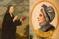 Historic images portray John and Susanna Wesley. Courtesy of the General Commission on Archives and History.