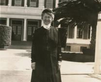 Methodist deaconess Kathryn Maurer is seen in a 1935 photograph. Courtesy of California State Library.