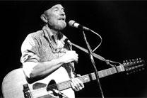 "Pete Seeger played a crucial role in popularizing ""We Shall Overcome,"" an anthem that many congregations sing during Black History Month. Photo by Josef Schwarz. Usage by GNU Free Documentation License."