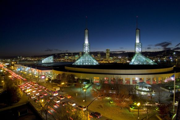 The United Methodist Church's top legislative body will meet at the Oregon Convention Center, the largest convention center in the Pacific Northwest, tentatively scheduled from May 10-20, 2016. Photo courtesy of the Oregon Convention Center.