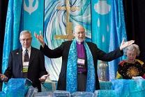 Prayer mantles are blessed for delegates ahead of General Conference 2012. File photo by Mike DuBose, United Methodist Communications.
