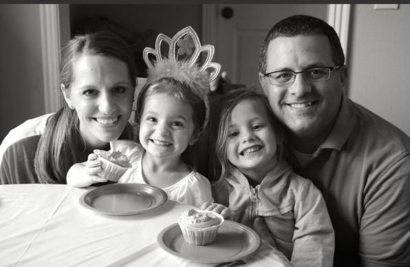 The Rev. Omar Rikabi, shown here with wife Jennifer and daughters Norah (left) and Sadie, uses his interfaith family story to counsel Christians in working through fears. Photo courtesy of the Rev. Omar Rikabi.