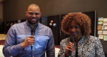 Skyler Nimmons and Sheron Patterson give highlights of General Conference 2016 session on May 18. Video image courtesy of United Methodist Communications.