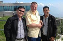 The Rev. Stefan Pfister mentors Cambodian pastors. Photo courtesy of the Rev. Stefan Pfister.