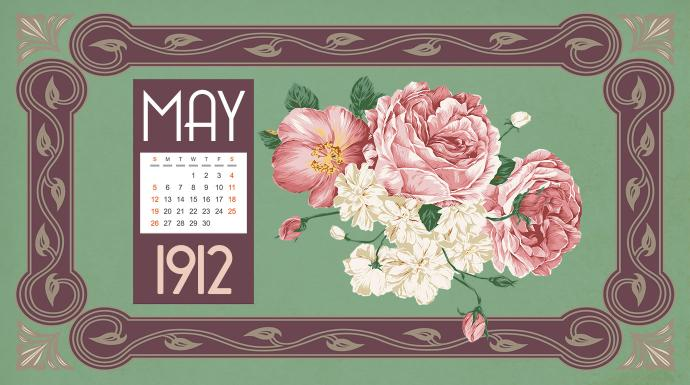 Photo illustration of a vintage calendar by Cindy Caldwell.