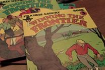 Comic books feature the adventures of Methodism's founding fathers, John Wesley and Francis Asbury. The books were published by Ron Kerr Associates, 1976. Image from video by United Methodist Communications.
