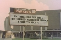 Marquee of the United Conference, 1968.