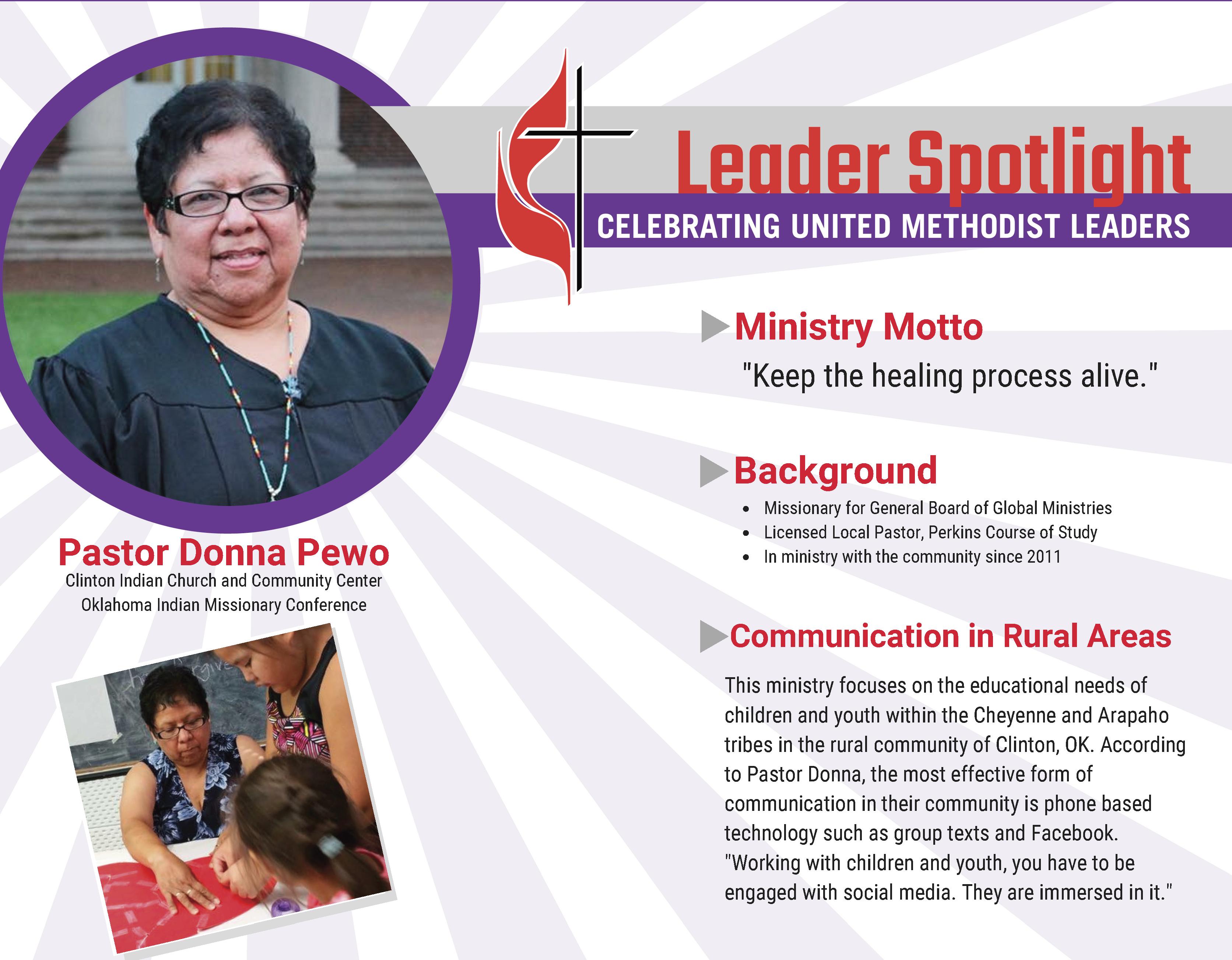 Leader Spotlight: Pastor Donna Pewo | United Methodist Communications