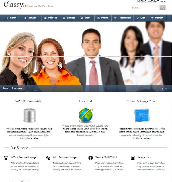 Classy WordPress Business Theme