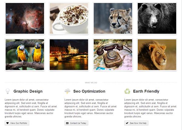 Powered WordPress theme