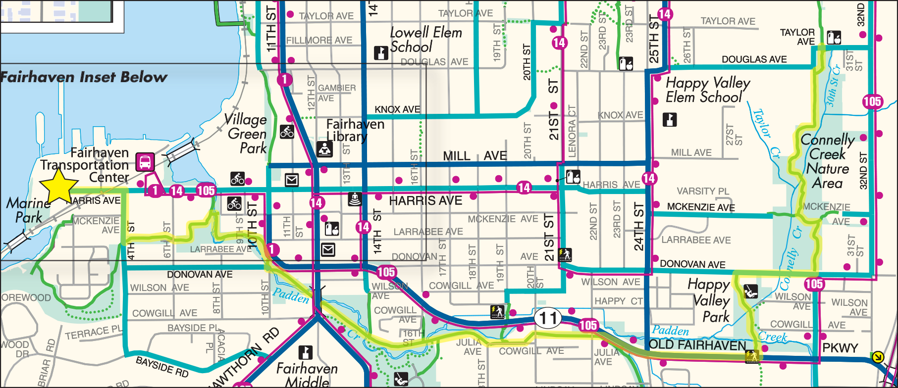 Marine Park to Connelly Creek Trail Ride Map
