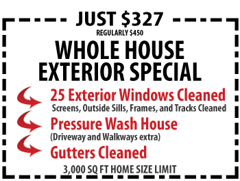 Pressure Washing, Gutter Cleaning, and Window Washing