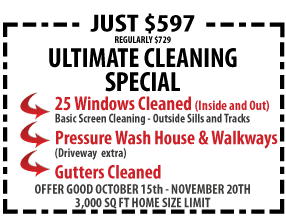Oceanside Ultimate Window Cleaning Special