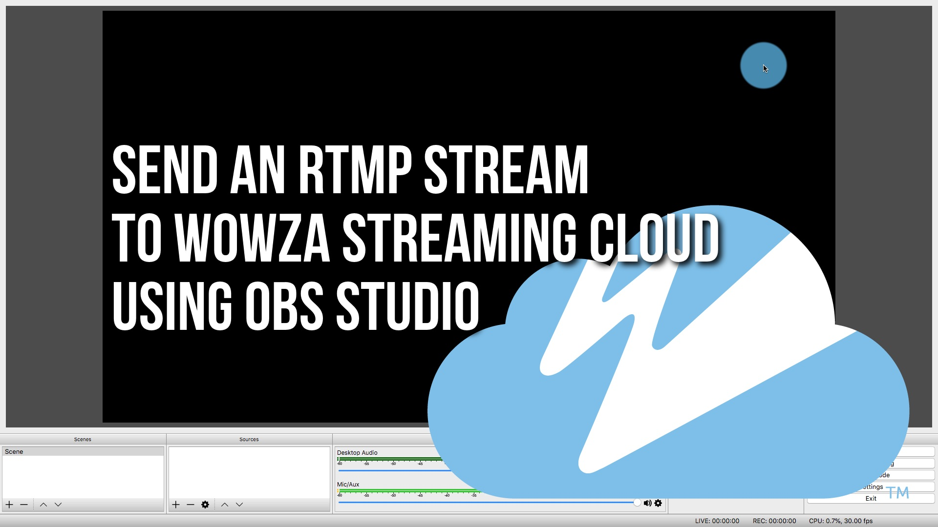 Connect an RTMP encoder to Wowza Streaming Cloud