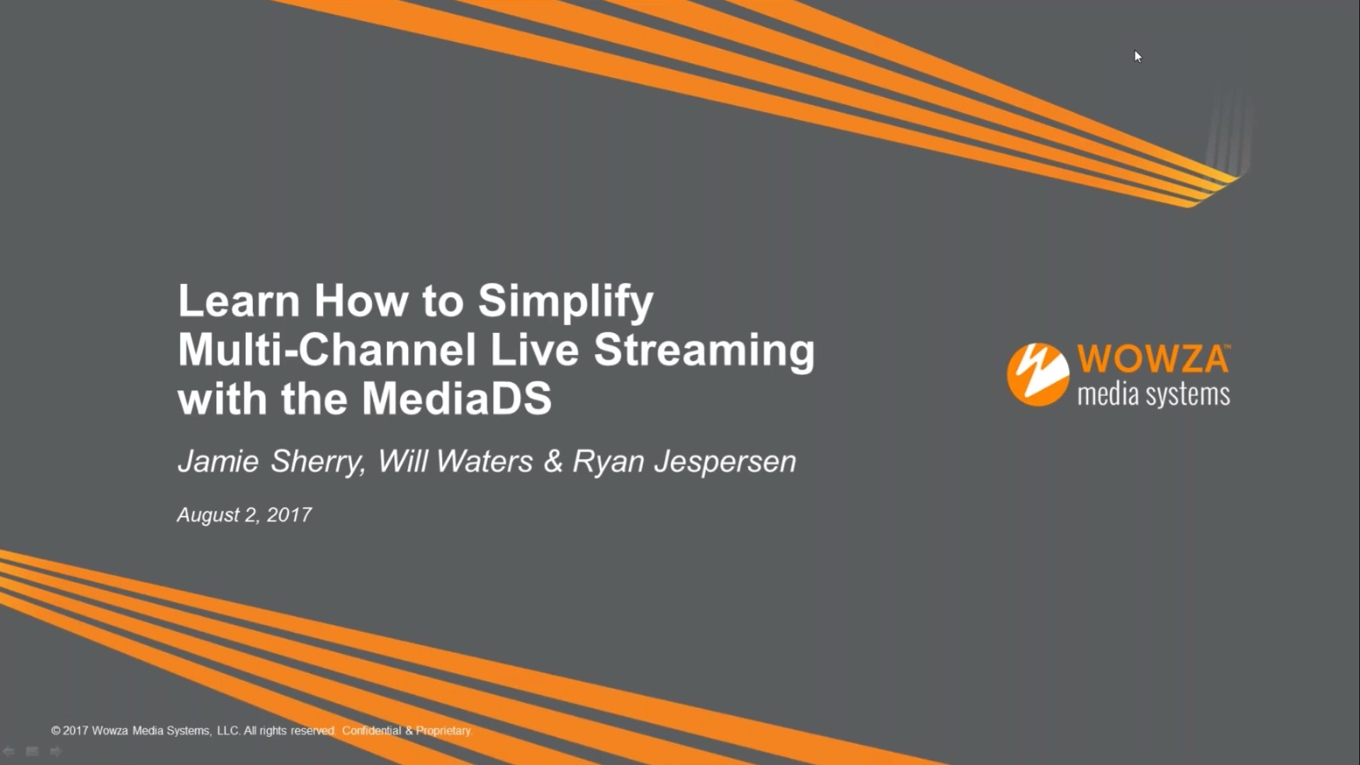 Webinar: Simplify Multi-Channel Live-Streaming With the MediaDS
