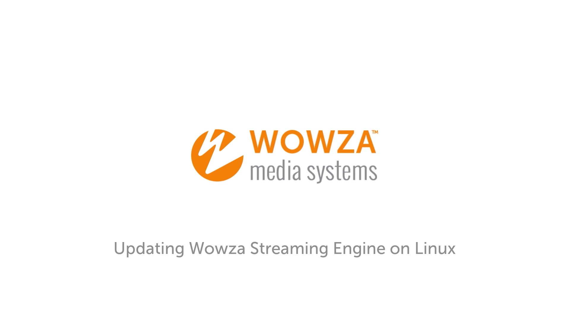 Update Wowza Streaming Engine