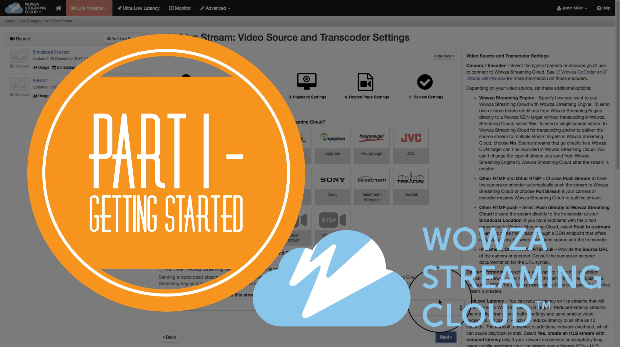 Get started with Wowza Streaming Cloud