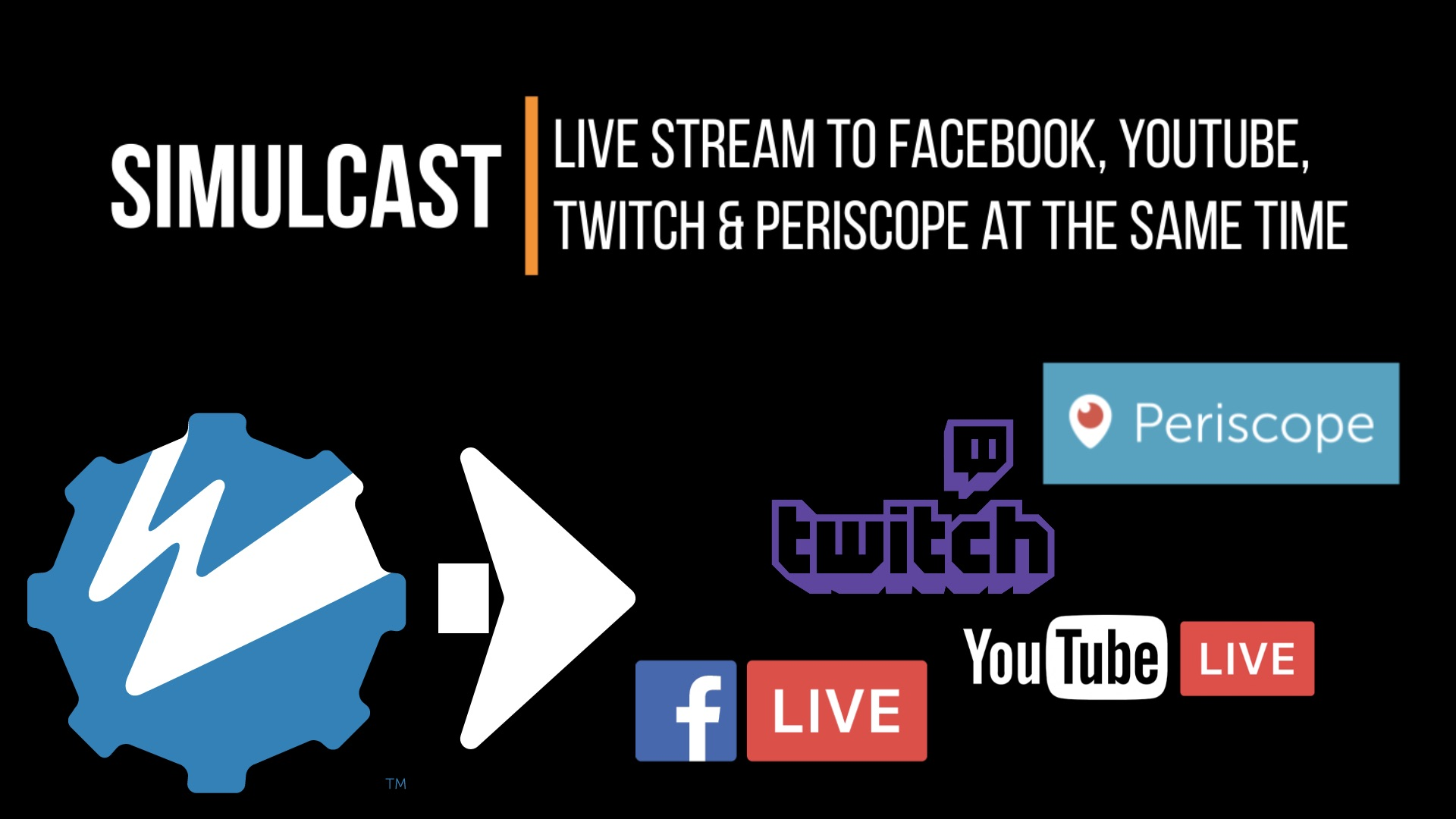 Live Stream to Facebook, YouTube, Twitch, and Periscope