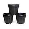 Set of 3 x 30L Black GRO Planters