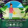 Fast Grass Seed Mix, Multi-Purpose Lawn Seed, 1kg