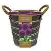 Outdoor Metal Bucket Allium Planter