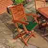 Plumley Set Green Cushions, Parasol & 15Kg Base