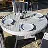 Prestbury 4 Seater Dining Set Putty Grey