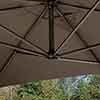 Prestbury Rectangular Overhang Parasol