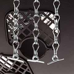 2 Spare 3-Point Hanging Chains for 12' Easy Fill Hanging Baskets