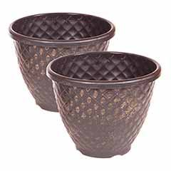 Pair of 28cm 11in Pinecone Planters