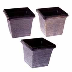 Set of 3 Metallic Effect Planters 18cm
