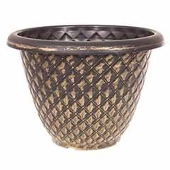 Black and Gold 'Pinecone' Planter