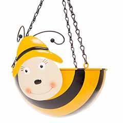 Bee Wobblehead Metal Hanging Basket 11