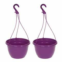 Purple Hanging Baskets - Pair