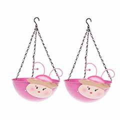 Pair of Princess Wobblehead Hanging Baskets